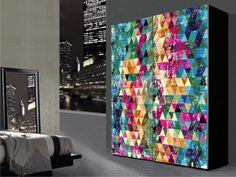 naklejka+na+szafę,kolorowa+abstrakcja+w+naklejsie+na+DaWanda.com