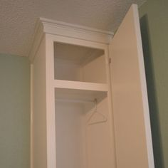 DIY cabinet style built-in closets - feature