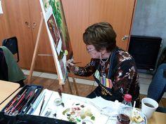 Liesbeth Künsting en su cuadro nr 6 o 7?... bien.. mucho progreso.