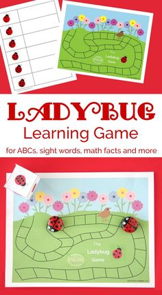 Ladybugs, Sight Words | A ladybug theme learning game for practicing sight words, math facts, ABCs, and more. You can have kids who're working on completely different skills can play together.