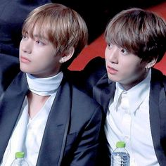 Taehyung looking handsome and Kookie looking adorable