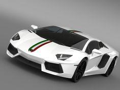 3D Lamborghini Aventador Lp 700 - 3D Model