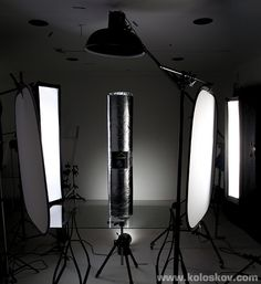 product photography lighting setup for construction materials: insulation roll
