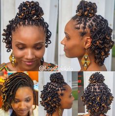 Who said short dreads can't be styled? Dreads Styles For Women, Short Dread Styles, Short Dreadlocks Styles, Dreadlock Styles, Dreads Short Hair, Low Ponytail Hairstyles, Dreads Girl, Dreadlock Hairstyles, Undercut Hairstyle