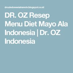 Apa itu Diet Mayo Diet Pinterest Itu and Diet