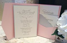 Fairy Tale Pink and Silver Wedding by SparkleandShinePaper on Etsy