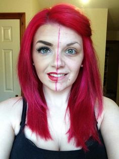 Here is Gemma doing a Younique halfie showing off some of her favourite products. Love her red hair here!