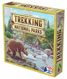 Trekking the National Parks is a family board game that lets players experience the U.S. National Parks in a fun and competitive way.  Players take part in a race across the country - their goal is to earn the most points by claiming National Parks and collecting bonus Stones. Players must jockey for position along the game's trails and make tough tactical decisions at every turn to emerge victorious!