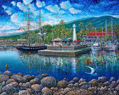'Van Gogh Dawn Over Maui' by Robert Lyn Nelson