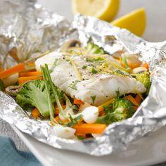 Découvrez la recette de la papillote de poisson au brocolis