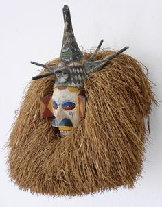 Yaka initiation mask, Congo, before German private collection. African Masks, African Art, Kingdom Of Kongo, Art Premier, Cultural Identity, African Tribes, Z Arts, Shamanism, African Culture