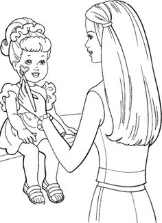 Face Barbie Doll Coloring Pages | Kids Coloring Pages ...