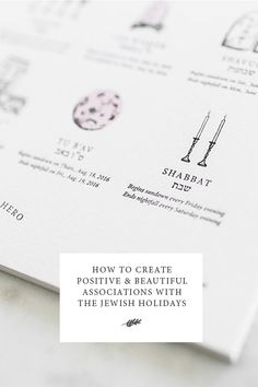 From the Jewish Food Hero blog: How to Create Positive & Beautiful Associations With the Jewish Holidays