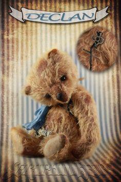 "Mohair 12"" bear  Declan: a downstairs Over-Hugged bear"