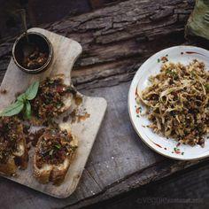 Roasted Eggplant & Almond Pesto w/ Sundried Tomatoes and Sumac