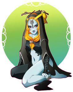 Twilight Princess Midna (true form) - Great fan art :)
