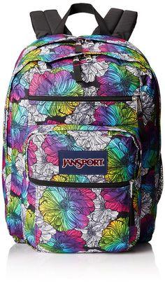 JanSport Big Student Backpack - Multi Ombre Floral   17.5H x 13W x 10D  Vintage 2cbbb91b2441b