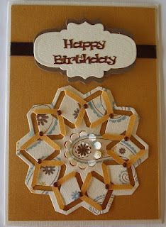 Spellbinders card using Cut an fold angle die and labels and tags die