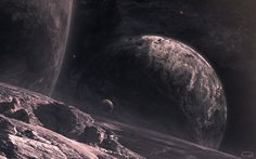 Does not look like a great place to visit --> space, #planets, #stars, #satellites, #surface, #terrain. http://www.mindblowingpicture.com/wallpaper/space/wp7lf7b2.html