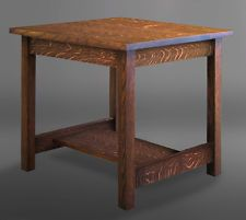 Brand New Arts & Crafts Mission Style Furniture Solid Oak End Table!