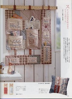 Great idea for the sewing room, country style, or could be updated with fresh fabrics