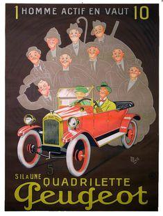 vintage Peugeot poster
