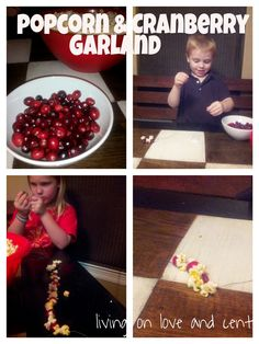 How to make Popcorn and Cranberry Garland
