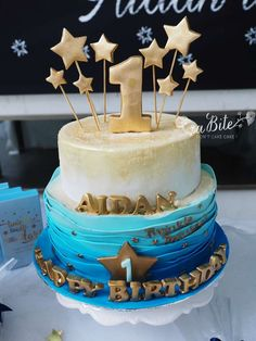 Glittery cake at a Twinkle Twinkle Little Star birthday party! See more party ideas at CatchMyParty.com!