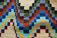 Quilting pattern for bargello