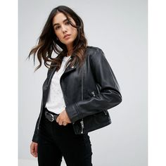 Barney's Originals Leather Jacket (1.950.655 IDR) ❤ liked on Polyvore featuring outerwear, jackets, black, zipper leather jacket, genuine leather jackets, zip jacket, barney's originals and tall leather jacket