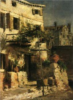 A Venetian Scene - John Henry Twachtman