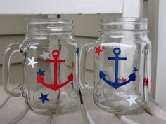 A personal favorite from my Etsy shop https://www.etsy.com/listing/236012230/set-of-2-red-white-and-blue-anchor-and