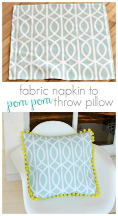 Turn a Fabric Napkin into fun throw pillow  |  View From The Fridge