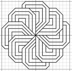 66 Ideas For Doodle Art Zentangle Patterns Graph Paper Blackwork Cross Stitch, Blackwork Embroidery, Paper Embroidery, Embroidery Designs, Blackwork Patterns, Zentangle Patterns, Cross Stitch Patterns, Graph Paper Drawings, Graph Paper Art