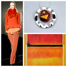 Statement piece! Inspired by Rothko, fused glass necklace by Katekatehall.