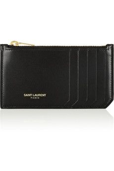 Saint Laurent Zipped leather card holder | NET-A-PORTER