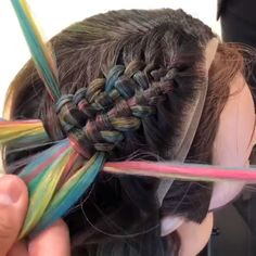 Awesome Braid Tutorial For more braid video tutorials just visit our website! Updos For Medium Length Hair, Short Hair Updo, Medium Hair Styles, Short Hair Styles, Pretty Hair Color, Beautiful Hair Color, Braided Hairstyles Tutorials, Diy Hairstyles, Hairstyle Tutorial