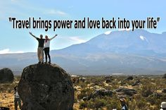 """Travel brings power and love back into your life."" ~ Rumi. #travel #quote"