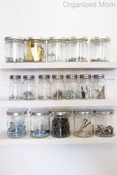 DIY Mason Jars Garage Storage