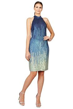 Bigmartz Amazon Store: Apparel: Versace Collection Ombre Sequin Halter Evening Cocktail Dress