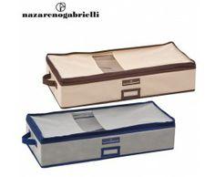 www.sconticasa.it  Set di due box salvaspazio in due diversi colori  Realizzato da Nazareno Gabrielli  Misure Dimensioni 60x25x14.5cm
