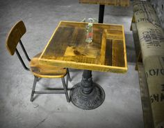 Salvaged S Wood Cafe Tables By Recycledbrooklyn On Etsy 265 00