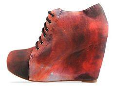 'Rainbow Galaxy' Lace up Platform Shoes - Black Milk X Jeffrey Campbell $189.95