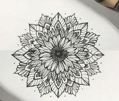 Pin by aly ribbons on tattoo тату Sunflower Mandala Tattoo, Mandala Flower Tattoos, Sunflower Tattoo Shoulder, Sunflower Tattoos, Sunflower Tattoo Design, Knee Tattoo, Arm Tattoo, Sleeve Tattoos, Cover Up Tattoos