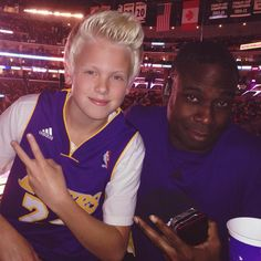 Great time at the Lakers game tonight with Andrew Lane!!!!