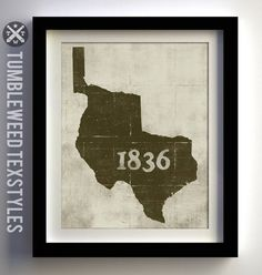 Republic of Texas 1836 Print - Awesome!