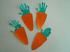 carrot hand print craft idea, dig into reading, toddler SO CUTE!!!
