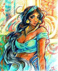 Jasmine Marker Sketch-up by ~rinoatilmitt on deviantART