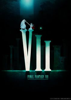 Revisiting Video Game Symbols - Final Fantasy VII by David Goh Final Fantasy Vii Remake, Final Fantasy Artwork, Final Fantasy Characters, Fantasy Posters, Video Game Symbols, Video Game Art, Video Games, Manga Anime, Final Fantasy Collection