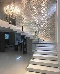 dream home amazing modern stairs for entryway or foyer Home Stairs Design, Railing Design, Modern House Design, Home Interior Design, Interior Ideas, House Staircase, Interior Staircase, Flur Design, Modern Stairs